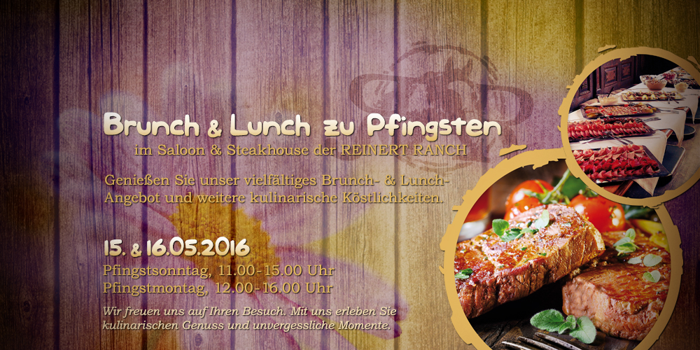 Brunch & Lunch zu Pfingsten | 15. & 16.05.