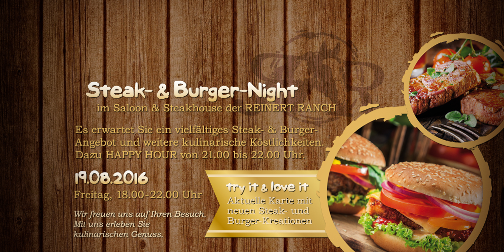 Steak- & Burger-Night | 19.08.