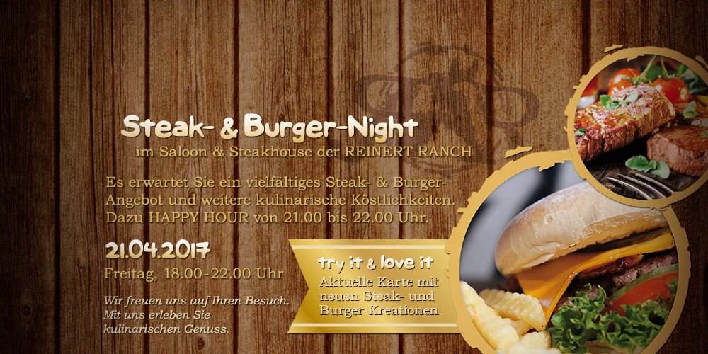 Steak- & Burger-Night | 21.04.