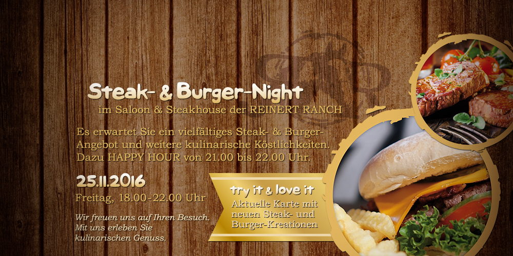 Steak- & Burger-Night | 25.11.