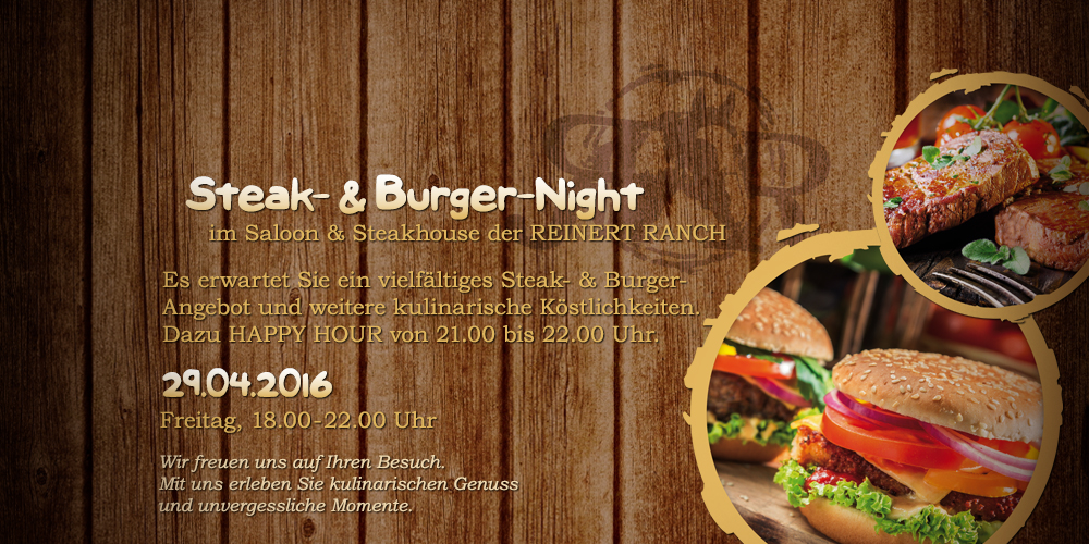 Steak- & Burger-Night | 29.04.